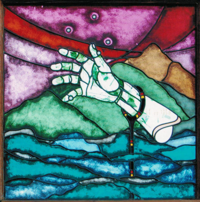 Symbolic Stained Glass Window