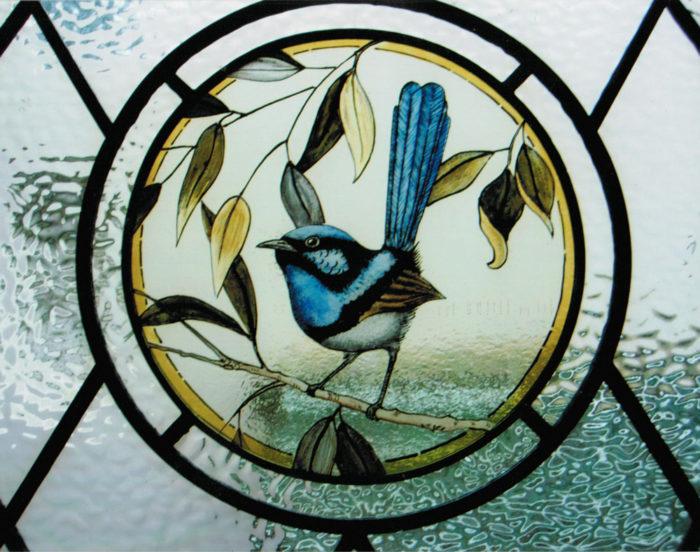 Blue bird circle window